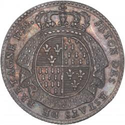 Jeton des Etats de Bretagne - 1758