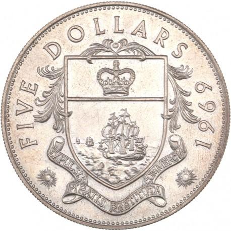 Bahamas - 5 dollars 1969