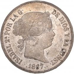 Espagne - 2 escudos 1867