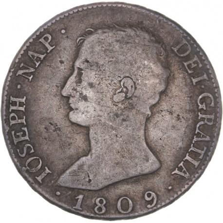 Espagne - 8 reales Joseph Napoléon 1809 IG