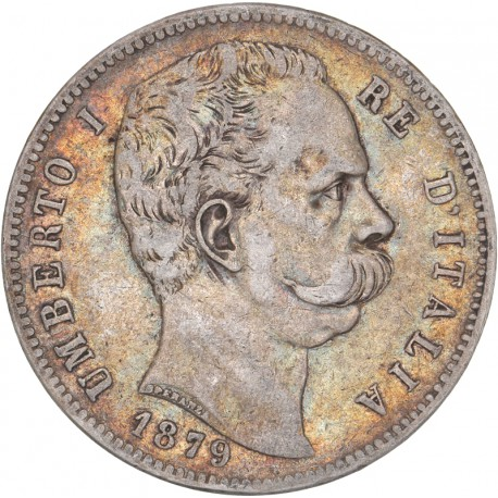 Italie - 5 lires Umberto Ier 1879 Rome