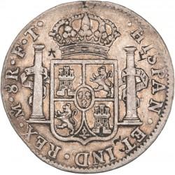 Mexique - 8 réales Charles IV 1803 contremarqué