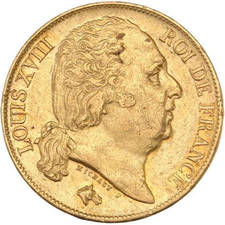 20 francs Louis XVIII 1817 A