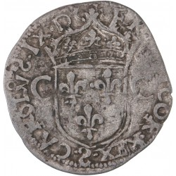 Charles IX - Teston (imitation) - 1574 Troyes