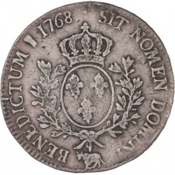 Louis XV - Ecu au bandeau 1768 Pau
