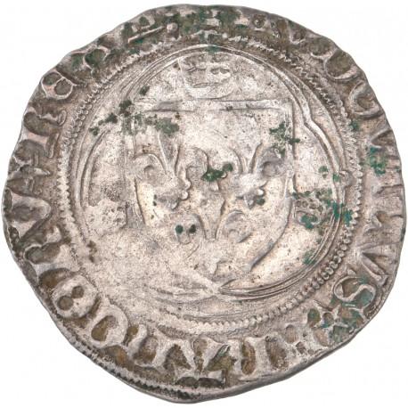 Louis XI - Blanc à la couronne de Tours