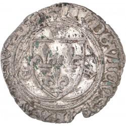 Louis XI - Blanc à la couronne de Saint Lô
