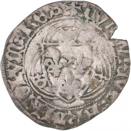 Louis XI - Blanc à la couronne de Troyes