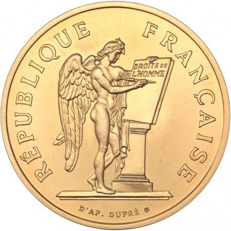 100 francs or Droits de l'homme