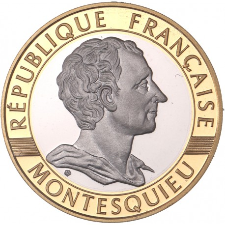 10 francs bimétallique or Montesquieu