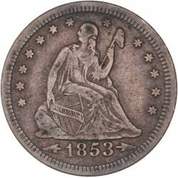 Etats Unis - Quart de dollar - 1853
