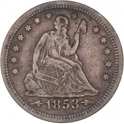Etats Unis - Quart de dollar - 1853