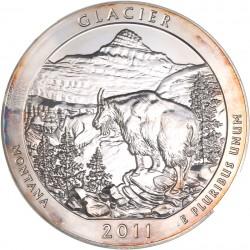 Etats unis - 5 onces d'argent pur - Parc national du Montana 2011