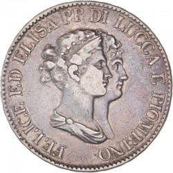 Italie - Lucques - 5 franchi 1807