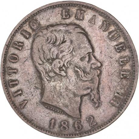 Italie - 5 lires Victor Emmanuel II - 1862 Naples