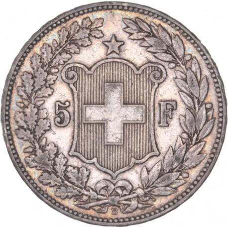 Suisse - 5 francs Helvetia 1890 B