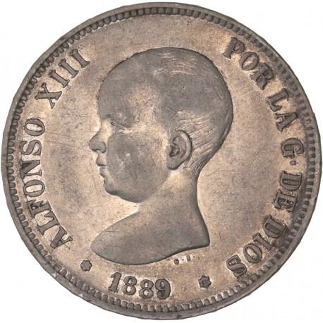 Espagne - 5 pesetas Alphonse XIII 1889