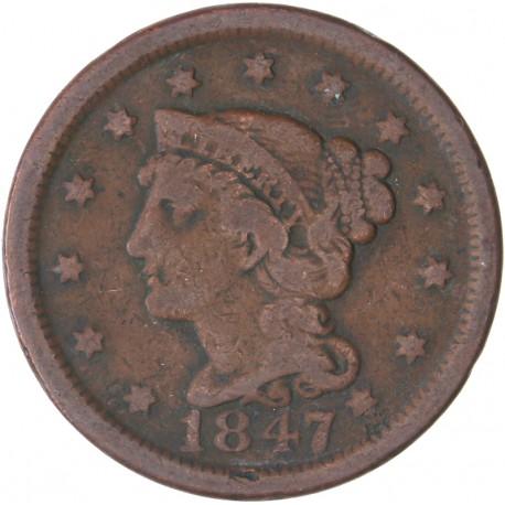 Etats Unis - 1 Cent 1847