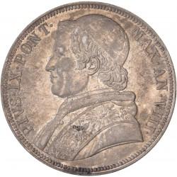 Vatican - Scudo Pie IX -1853 An VIII