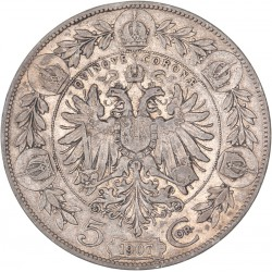 Autriche - 5 couronnes François Joseph Ier 1907