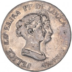 Italie - Lucques et Piombino - 5 franchi 1806