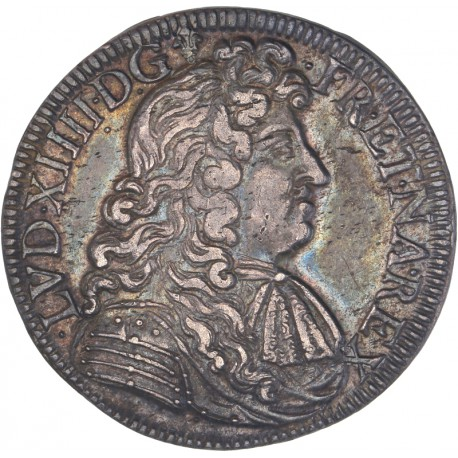 Louis XIV - Demi écu au parlement 1682 K Bordeaux