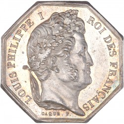 Jeton octogonal - Banque d'Orléans 1838