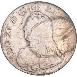 Louis XV - Ecu aux lauriers 1740 L Bayonne