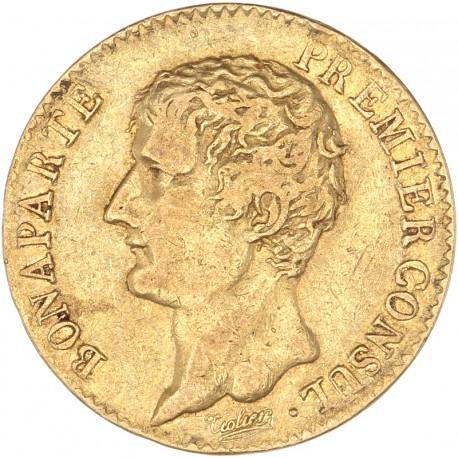 20 francs Bonaparte Premier Consul an XI A