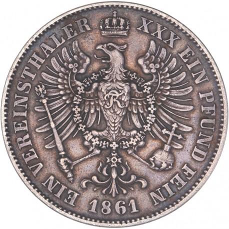 Allemagne - 1 Thaler Guillaume Ier 1861