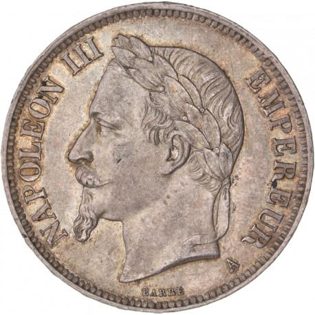 5 francs Napoléon III 1870 A