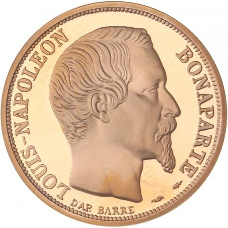 """Coffret """"Belle Épreuve Or"""" 10, 20 et 50 francs Napoléon 1852-1992"""