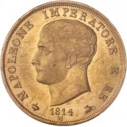 Italie - 40 lires Napoléon Ier 1814 M