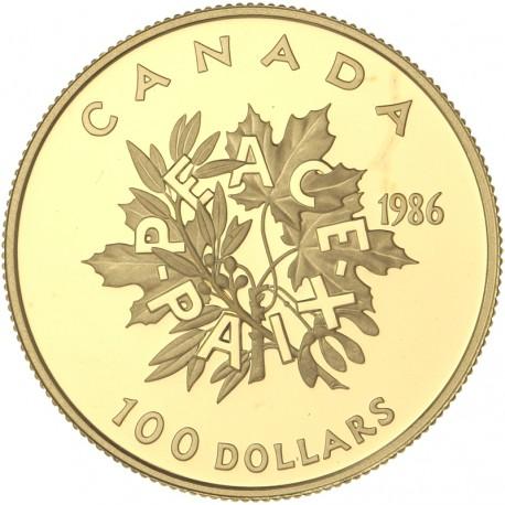 Canada - 100 dollars 1986 - Paix