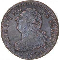 Louis XVI - période constitutionnelle - 2 sols françois 1792 A Paris