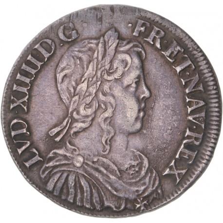 Louis XIV - Demi écu à la mèche longue 1653 B Rouen