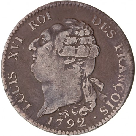 Louis XVI - Ecu de la Constitution - 1792 A Paris