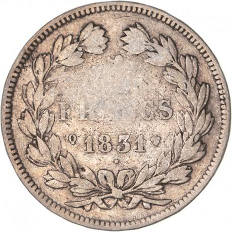 5 francs Louis Philippe Ier 1831 Q Perpignan