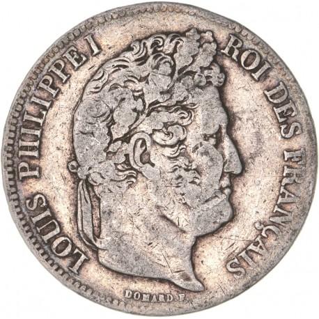 5 francs Louis Philippe Ier 1839 D Lyon
