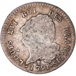 Louis XVI - période constitutionnelle - 30 sols françois 1791 I Limoges