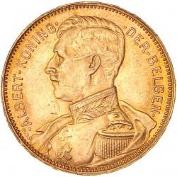 Belgique - 20 francs Albert Ier 1914 légende flamande