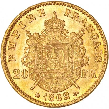20 francs Napoléon III - 1862 BB