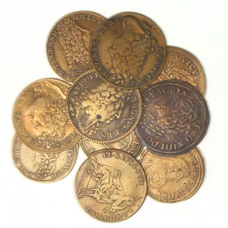 Lot de jetons royaux en cuivre
