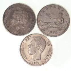 Lot de monnaies d'Espagne