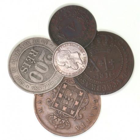 Lot de monnaies du Brésil et Portugal