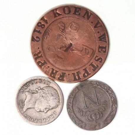Lot de monnaies napoléonides