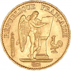 20 francs Génie 1874 A