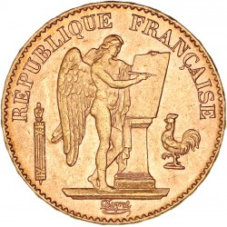20 francs Génie 1895 A