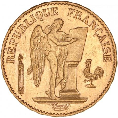 20 francs Génie 1877 A
