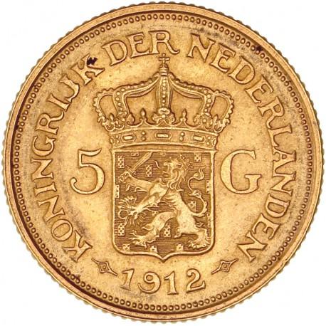 Pays Bas - 5 florins 1912